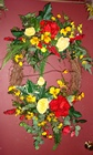 SUNSHINE WREATH Premier Flowers from Cottage Florist, Lakeland Fl 33813