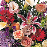 Custom Designed Sympathy Spray Cottage Florist Lakeland Fl 33813 Premium Flowers lakeland
