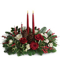 Christmas Wishes Centerpiece Cottage Florist Lakeland Fl 33813 Premium Flowers lakeland