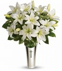 Sacred Cross Bouquet Premier Flowers from Cottage Florist, Lakeland Fl 33813