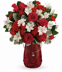 Red Haute Bouquet Cottage Florist Lakeland Fl 33813 Premium Flowers lakeland