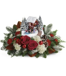Thomas Kinkade's Snowfall Dreams Bouquet Cottage Florist Lakeland Fl 33813 Premium Flowers lakeland