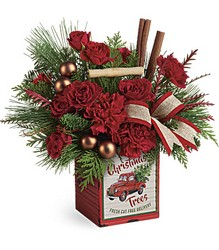 Merry Vintage Christmas Bouquet Cottage Florist Lakeland Fl 33813 Premium Flowers lakeland