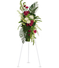 Gerberas and Palms Spray Cottage Florist Lakeland Fl 33813 Premium Flowers lakeland