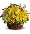 Basket Full of Wishes Cottage Florist Lakeland Fl 33813 Premium Flowers lakeland