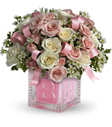 Baby's First Block - Pink Cottage Florist Lakeland Fl 33813 Premium Flowers lakeland
