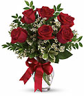 Thoughts of You Bouquet with Red Roses Cottage Florist Lakeland Fl 33813 Premium Flowers lakeland