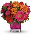 Turn Up The Pink Bouquet Cottage Florist Lakeland Fl 33813 Premium Flowers lakeland