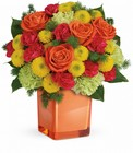 Citrus Smiles Bouquet Cottage Florist Lakeland Fl 33813 Premium Flowers lakeland