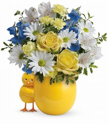 Sweet Peep Bouquet - Baby Blue Cottage Florist Lakeland Fl 33813 Premium Flowers lakeland
