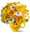 Be Happy Bouquet Deluxe Cottage Florist Lakeland Fl 33813 Premium Flowers lakeland