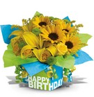Sunny Birthday Present Premier Flowers from Cottage Florist, Lakeland Fl 33813