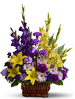 Basket of Memories Cottage Florist Lakeland Fl 33813 Premium Flowers lakeland
