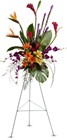 Paradise Tribute Spray  Cottage Florist Lakeland Fl 33813 Premium Flowers lakeland