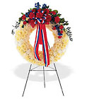 Patriotic Spirit Wreath Cottage Florist Lakeland Fl 33813 Premium Flowers lakeland