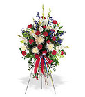 Patriotic Spirit Spray Cottage Florist Lakeland Fl 33813 Premium Flowers lakeland