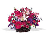 Joyous Birthday Basket Cottage Florist Lakeland Fl 33813 Premium Flowers lakeland